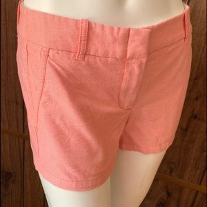J. CREW Coral/pink Classic CHINO Shorts Size 0